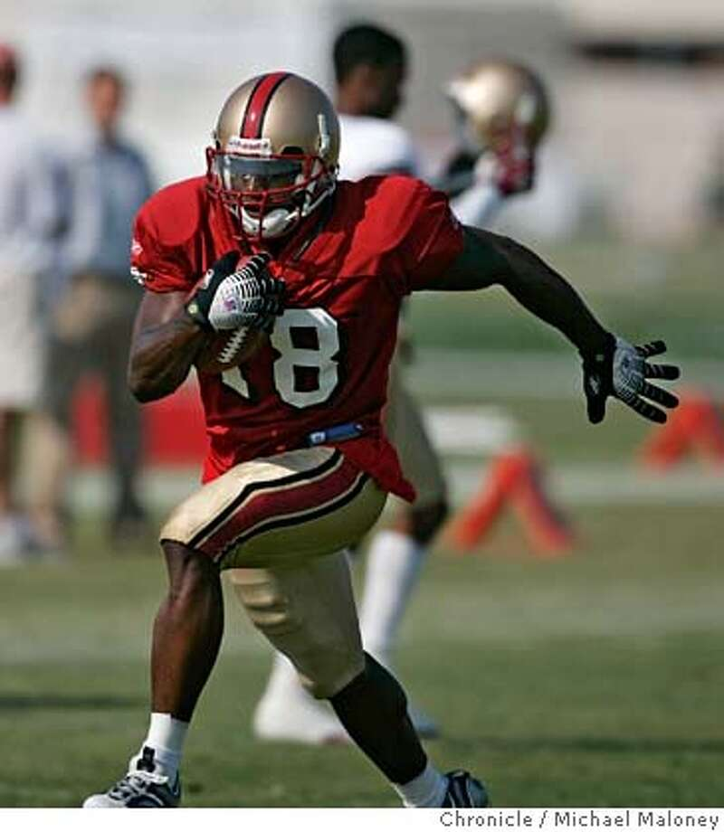 WR Otis Amey  49ers practice at their Santa Clara training facility.  Photo by Michael Maloney / San Francisco Chronicle on 8/2/06 in Santa Clara,CA MANDATORY CREDIT FOR PHOTOG AND SF CHRONICLE/ -MAGS OUT Photo: Michael Maloney