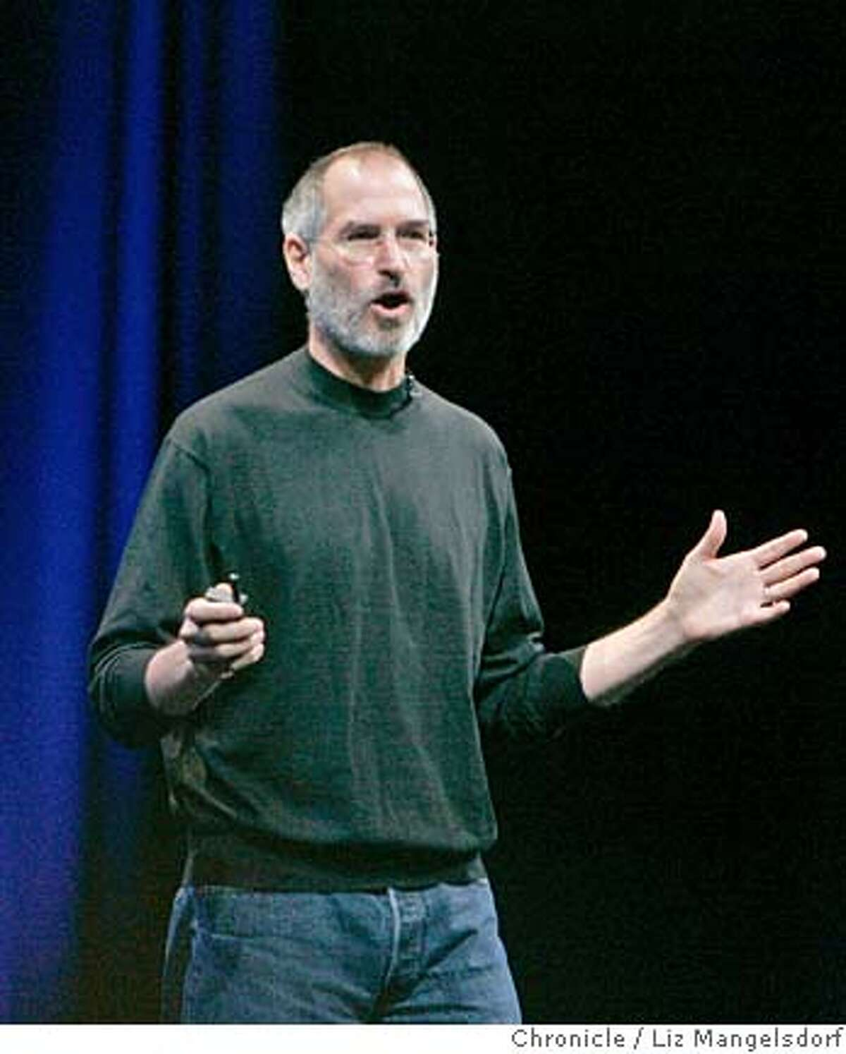 apple08_lm002.JPG Apple CEo Steve Jobs introduces the new Mac operating system at the company's Worldwide Developers conference at Moscone Center in San Francisco on August 7, 2006. Liz Mangelsdorf /The Chronicle