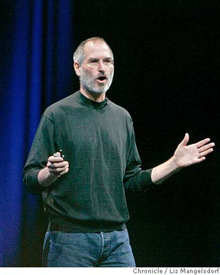 apple08_lm002.JPG  Apple CEo Steve Jobs introduces the new Mac operating system at the company's Worldwide Developers conference at Moscone Center in San Francisco on August 7, 2006. Liz Mangelsdorf /The Chronicle Photo: Liz Mangelsdorf