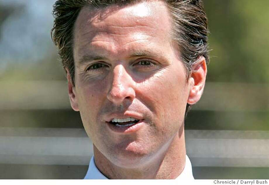 newsom26_0234_db.JPG  Mayor Gavin Newsom talks about San Francisco making the short list of those cities to be considered to host the 2016 Summer Olympic games as he visits the Hunters Point Boys and Girls Club baseball field, in San Francisco, CA on Wednesday, July 26, 2006. shot: 7/26/06  Darryl Bush / The Chronicle ** Gavin Newsom (cq) MANDATORY CREDIT FOR PHOTOG AND SF CHRONICLE/ -MAGS OUT Photo: Darryl Bush