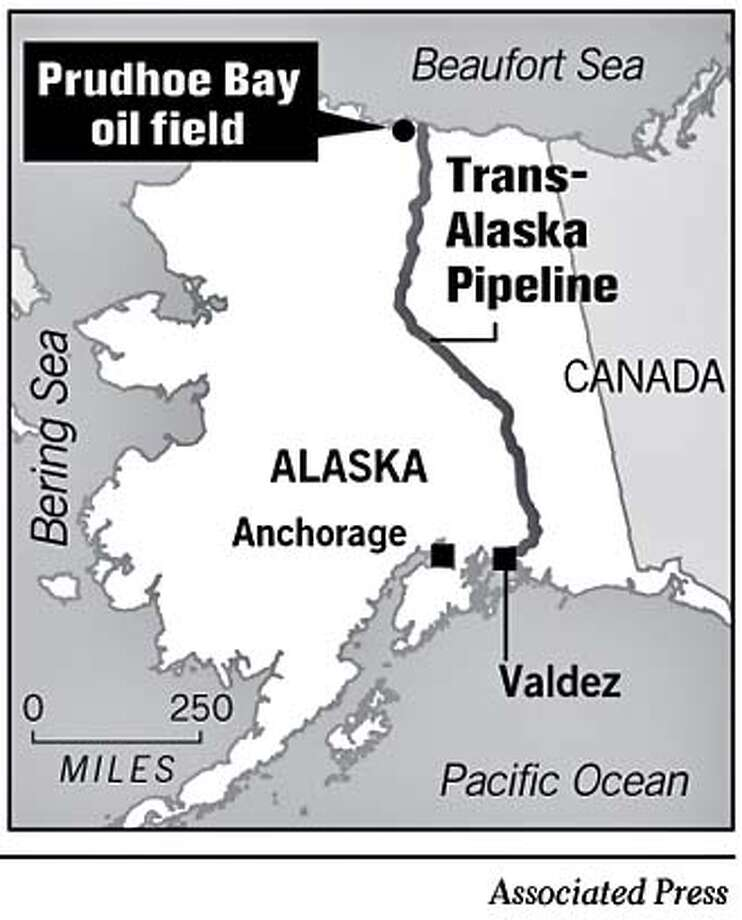 Prudhoe Bay Oil Field. Associated Press Graphic
