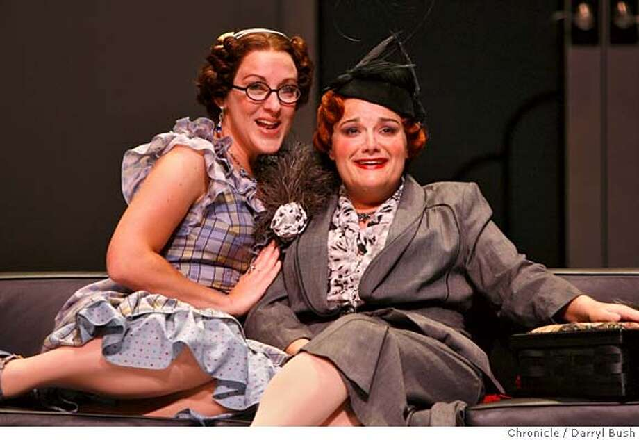 "merola_0003_db.JPG  Caryn Marlowe as Elisetta, left, and Jessica Vanderhoof as Fidalma, perform in the Merola Opera program called, ""II Matrimonio Segreto,"" at Cowell Theater San Francisco, CA on Wednesday, August 2, 2006. 8/2/06  Darryl Bush / The Chronicle ** Caryn Marlowe, Jessica Vanderhoof(program) (cq) MANDATORY CREDIT FOR PHOTOG AND SF CHRONICLE/ -MAGS OUT Photo: Darryl Bush"