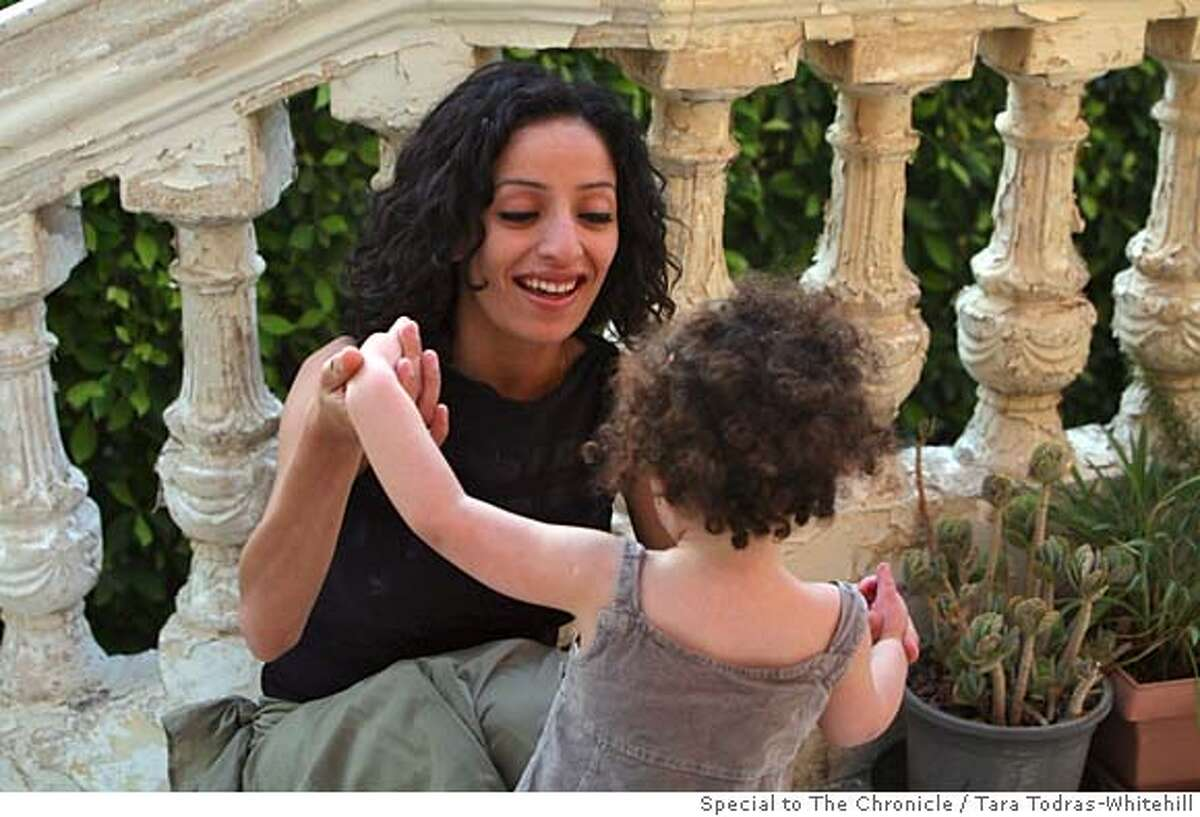 Hind al-Hinnawy and daughter Leena in Cairo, Egypt on June 17th, 2006. Hinnawy, an Egyptian costume designer recently won a highly publicized paternity case against Ahmed al-Fishawy, an Egyptian actor. Photo by Tara Todras-Whitehill/Special to The Chronicle