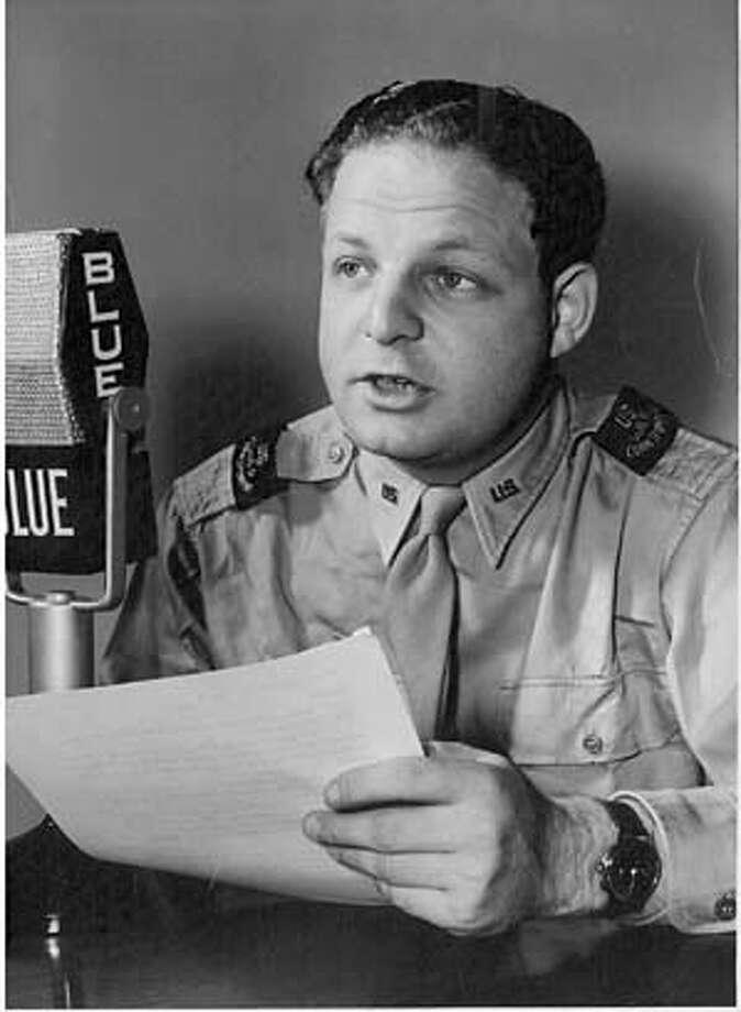 Arthur Feldman Broadcasting for the Blue Network in 1944. Photo: Handout