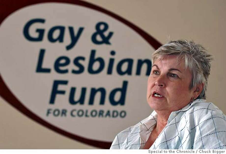 Executive Director of the Gay & Lesbian Fund for Colorado and former Colorado Springs mayor MaryLou Makepeace discusses the 'Born Different' campaign at the organizations Colorado Springs offices. 8/1/06 for the San Francisco Chronicle/Chuck Bigger/Special to the Chronicle/Special to the Chronicle Photo: Chuck Bigger