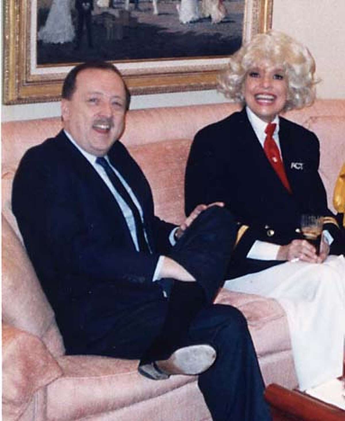 Credit: Courtesy: Wilkes Bashford wilkes and Carol Channing in the late 80s at a luncheon held at the Sutter Street store