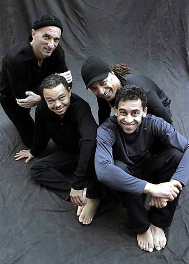 Left to right: Andy Narell, Mario Canonge, Michel Alibo and Jean Philippe Fanfant.