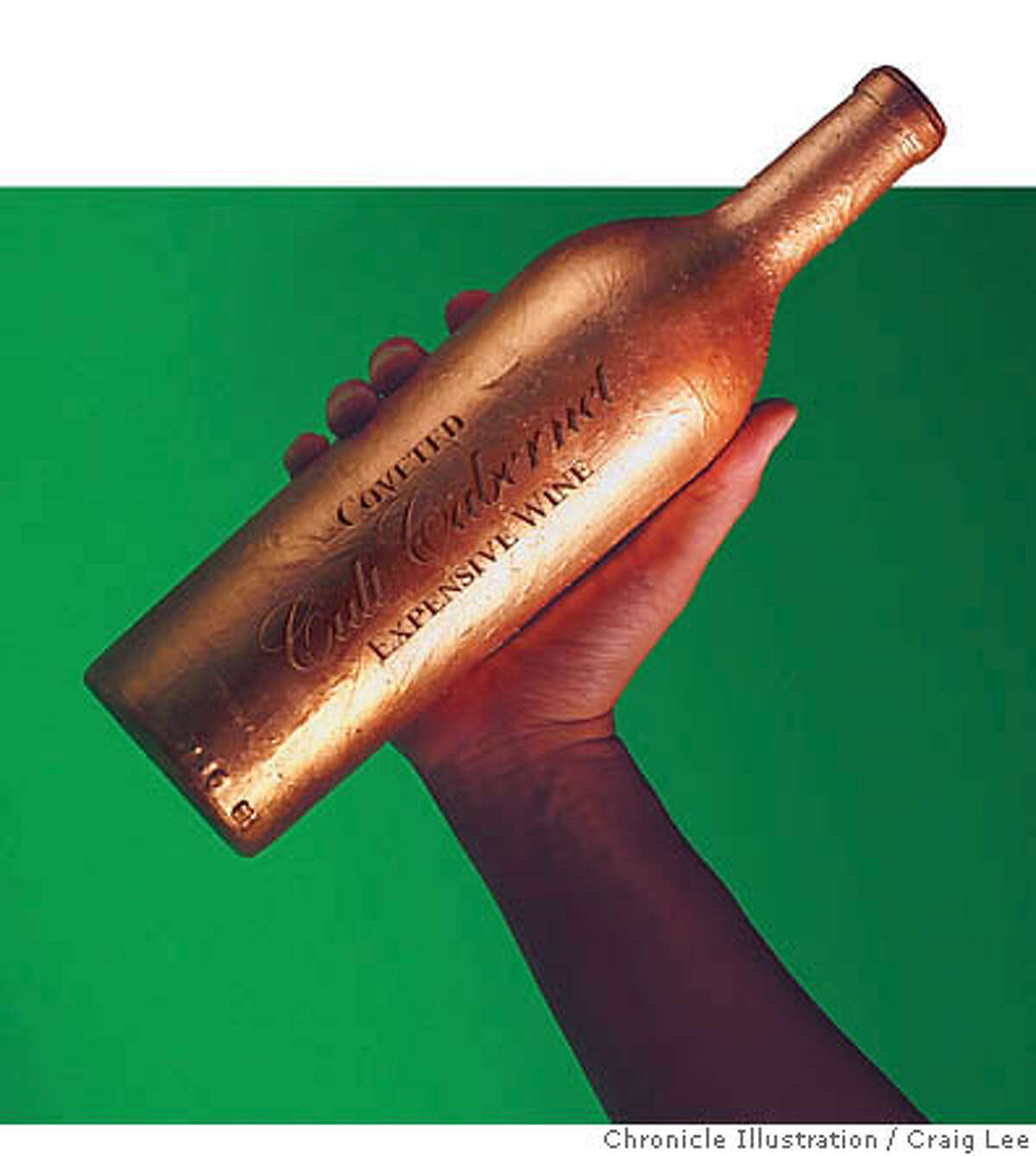 EXPENSIVE03_018_cl.JPG_A story about why some wines are so expensive. Who buys these $200 trophy wines and are they ever consumed? Or just hoarded. Photo illustration of a wine-like trophy._Craig Lee / The Chronicle__MANDATORY CREDIT FOR PHOTOG AND SF CHRONICLE/ -MAGS OUT