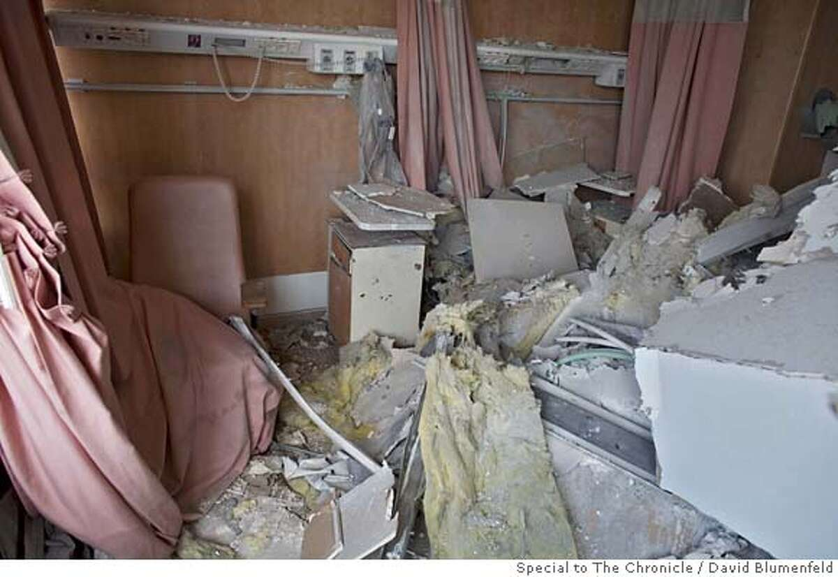 Nahariya, Israel: Rubble in a hospital room at the Opthamology Dept. at the Nahariya Hospital after it was hit by a Ketushya Rocket. David Blumenfeld/SPECIAL TO THE CHRONICLE