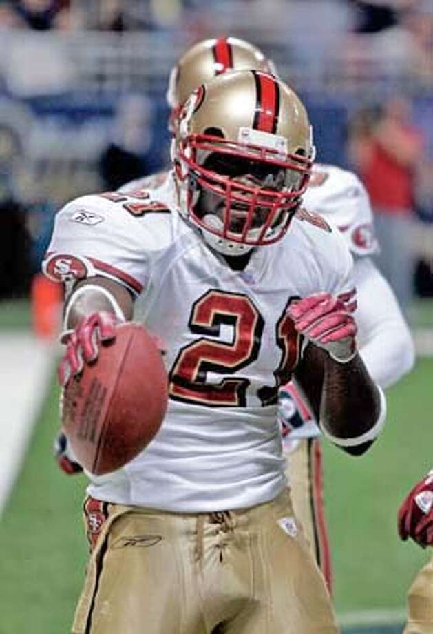 Frank Gore, then a rookie, gave the 49ers something to cheer about late last season. Associated Press photo by James A. Finley