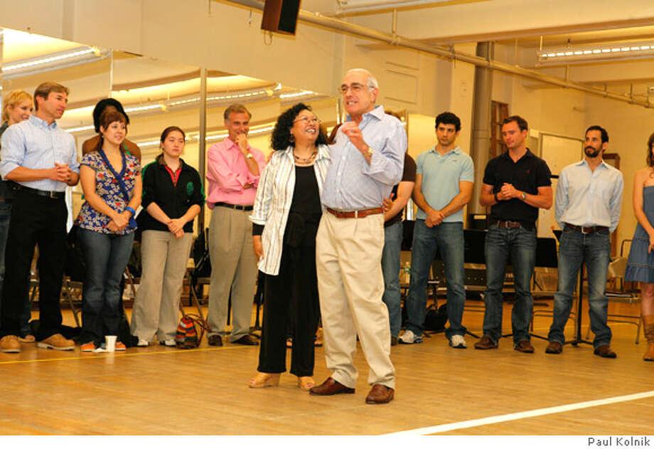 A Chorus Line First Rehearsal  6/15/06  Credit Photo: �Paul Kolnik  NYC  212.362.7778  studio@paulkolnik.com Photo: Paul Kolnik