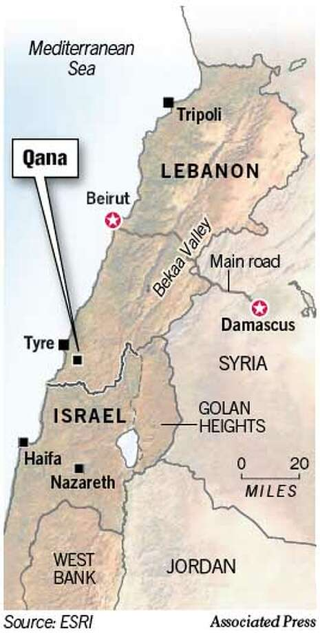 Qana, Lebanon. Chronicle Graphic