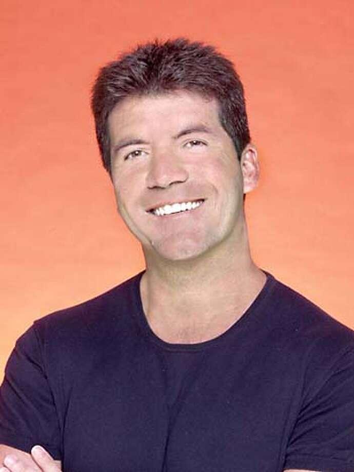 "Tongue in cheek: Simon Cowell plays bad judge on ""American Idol."" Photo courtesy of Fox"