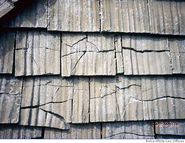 roof tiles from cal shake tended to break and fade but homeowners had