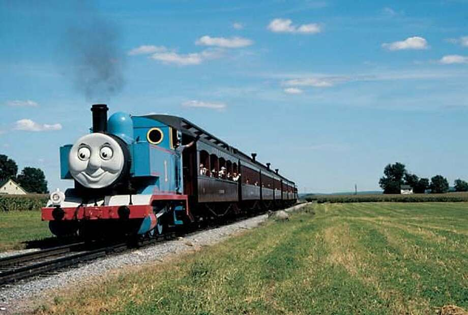Thomas the Tank Engine will be in the Felton area at the Roaring Camp Railroads, www.roaringcamp.com, July 28, 29, 30 and August 4, 5, 6. This is a real engine that has been converted into Thomas. Photo: X