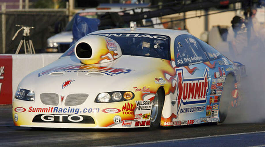Greg Anderson, who set a track speed record, is trying for his second win this year in Pro Stock competition. Associated Press photo by Ken Sklute