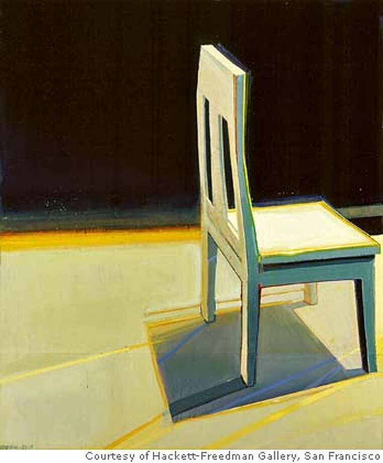 """Sunshine Chair"" (1983) oil on canvas by Raimonds Staprans Photo by PHOCASSO/J.W.White Courtesy of Hackett-Freedman Gallery, San Francisco Photo: PHOCASSO/J.W.White"