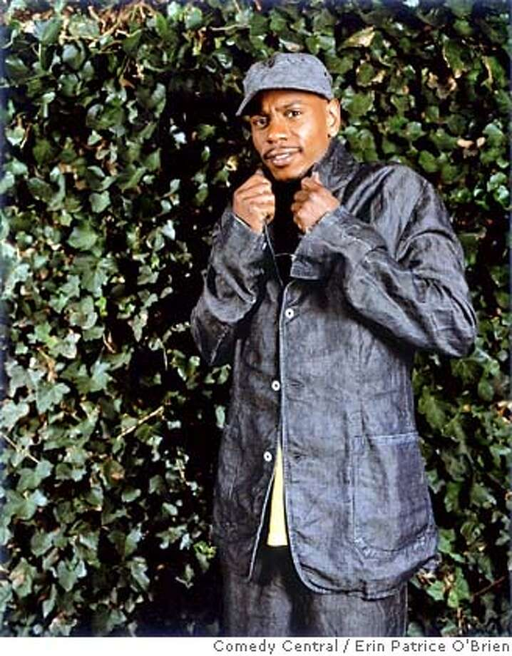 "This undated photo, supplied by Comedy Central, shows Dave Chappelle in a promotional photo for his show's ""lost episodes."" The cable channel is airing three episodes of ""Chappelle's Show,"" compiled from sketches left behind before Chappelle's now legendary freakout, walking out on a $50 million contract and one of TV's hottest shows two years ago under still mysterious circumstances.(AP Photo /Comedy Central,Erin Patrice O'Brien) , UNDATED Photo: ERIN PATRICE O'BRIEN"
