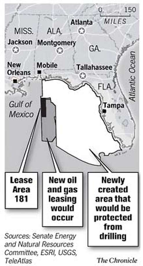 Gulf Drilling Plan. Chronicle Graphic