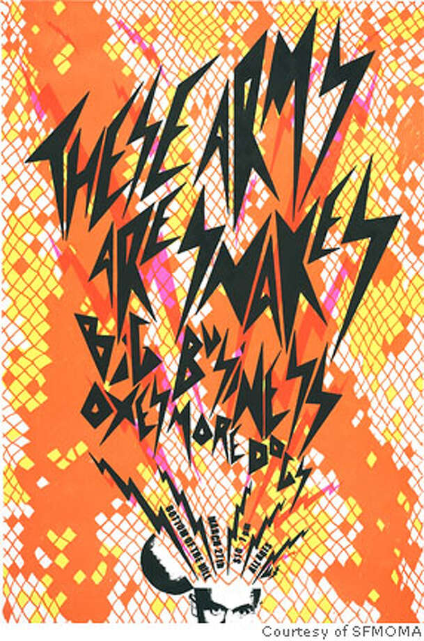 Rock posters from Urban Inks in SFMOMA's collection. Credit: SFMOMA Photo: SFMOMA