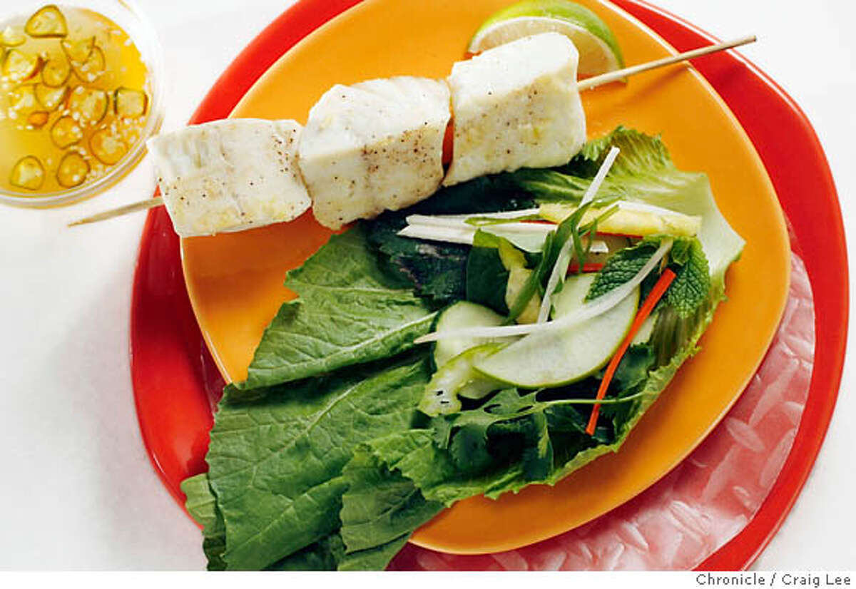VIETWRAP26_210_cl.JPG Photo of Vietnamese lettuce wraps. Food styled by Amanda Gold. Craig Lee / The Chronicle MANDATORY CREDIT FOR PHOTOG AND SF CHRONICLE/ -MAGS OUT