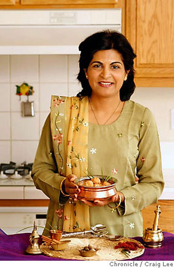 CHEFSFAVES_100_cl.JPG  Photo of Laxmi Hiremath, a cookbook author/writer, in her home. She made a dish called chicken Kofta.  Craig Lee / The Chronicle MANDATORY CREDIT FOR PHOTOG AND SF CHRONICLE/ -MAGS OUT Photo: Craig Lee