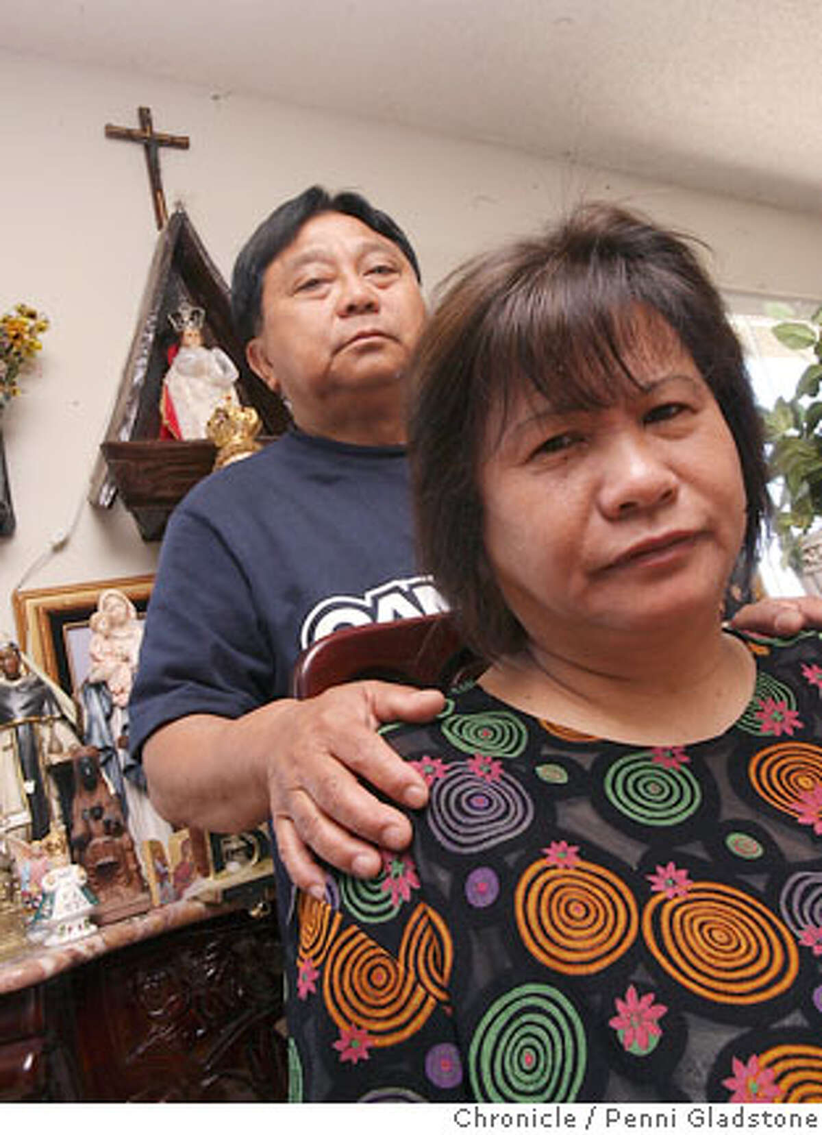 Tomasito Birco and his wife Zenaida ar Parents of officer NICK BIRCO killed in car accident while duty on July 26 during car chase..Officer is from Bay View station. SAN FRANCISCO CHRONICLE/PENNI GLASTONE 7/27/06 San Francisco