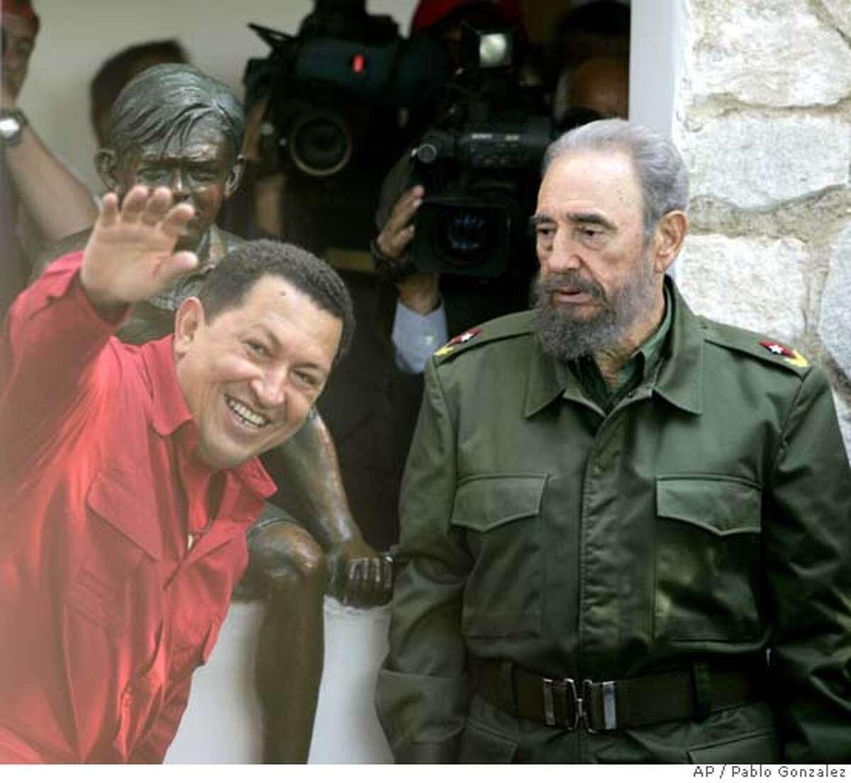 Hugo Chavez, Fidel Castro