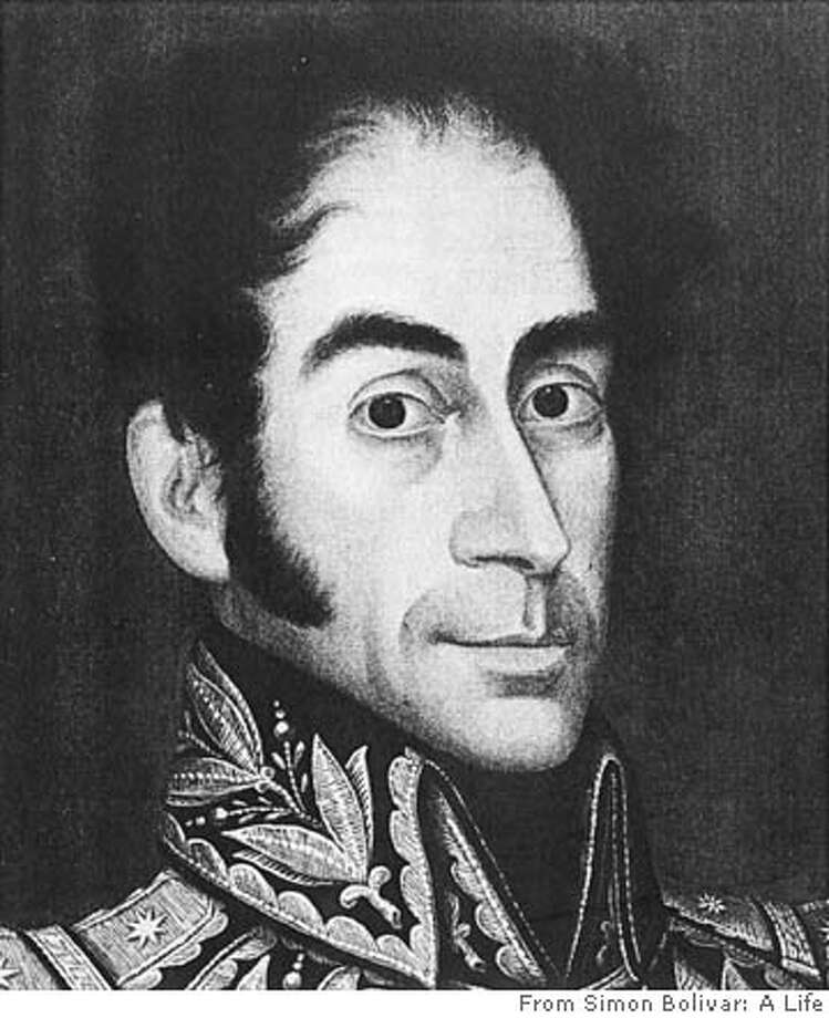 "Caption from the book: Simon Bolivar by Jose Gil de Castro, Lima, 1825. ""My portrait painted in Lima with great accuracy and likeness.""  FOR USE WITH BOOK REVIEW ONLY Photo: From ""Simon Bolivar: A Life"""