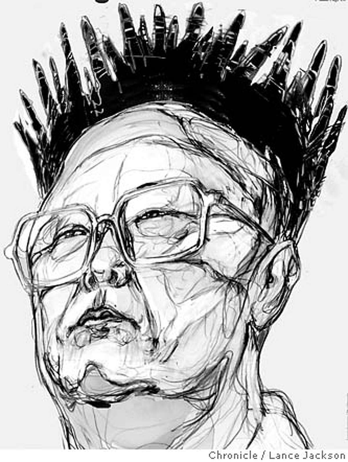 Kim Jong Il. Chronicle illustration by Lance Jackson