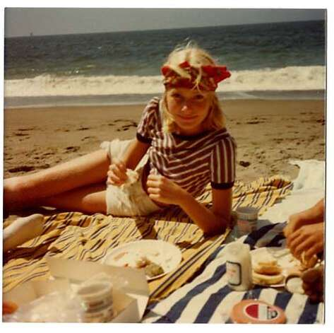 Egan, shown here as a teenager at Baker Beach in the '70s, moved to San Francisco when she was 7. Photo courtesy of Jennifer Egan