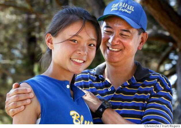Allen Ng and his Daughter Allison. Allison who was adopted from China has been invited to go back to China along with other adoptees by the Chinese Government. For an all expenses paid trip to maintain ties to their home land.  Allen and Allison were photographed between softball games  In Vallejo. KURT ROGERS/THE CHRONICLE VALLEJO THE CHRONICLE  SFC CHINAADOPTXX_0122_kr.jpg MANDATORY CREDIT FOR PHOTOG AND SF CHRONICLE / -MAGS OUT Photo: KURT ROGERS/THE CHRONICLE