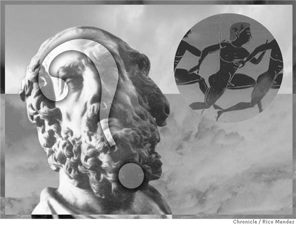 Who really wrote 'Odyssey,' 'Iliad'? Evidence points not to Homer, not to any man, but to a woman. Chronicle illustration by Rico Mendez