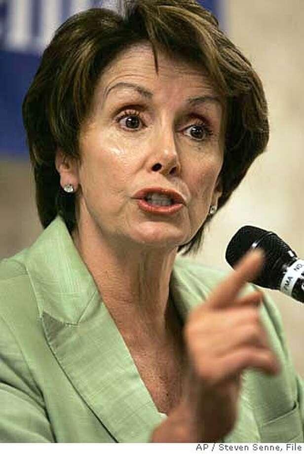 Nancy Pelosi Photo: STEVEN SENNE