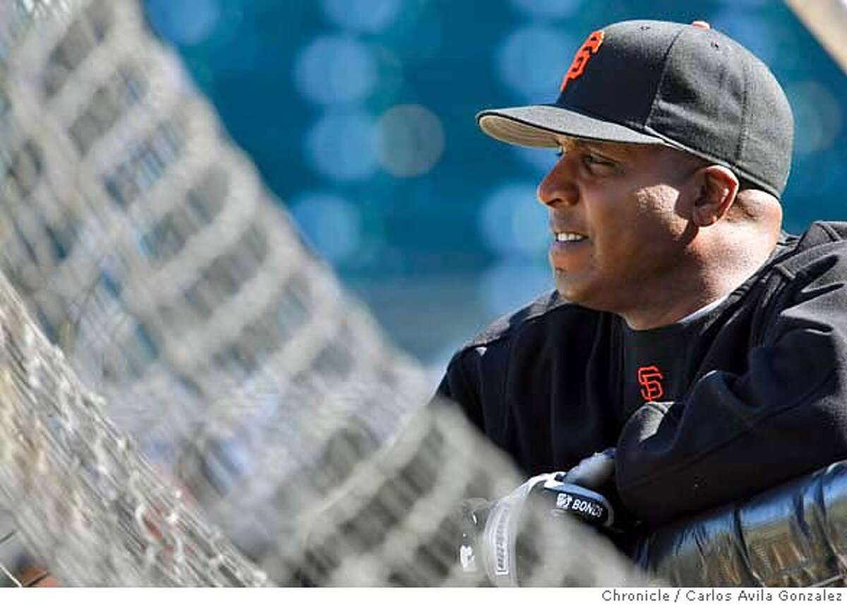BONDS21_002_CAG.JPG Barry Bonds waits for batting practice on Thursday, July 20, 2006, the day federal prosecutors decided not to indict him on federal charges of perjury and tax evasion. The San Francisco Giants play the San Diego Padres later that evening at AT&T Park in San Francisco, Ca., on Thursday, July 20, 2006. Photo by Carlos Avila Gonzalez/The San Francisco Chronicle Photo taken on 7/20/06, in San Francisco, Ca, USA **All names cq (Roster) MANDATORY CREDIT FOR PHOTOG AND SAN FRANCISCO CHRONICLE/ -MAGS OUT