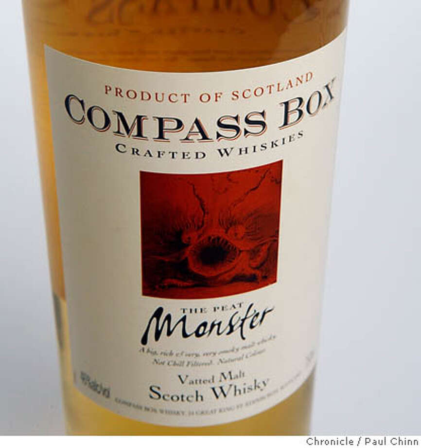Compass Box Peat Monster Scotch Whisky in San Francisco, Calif. on Thursday, June 29, 2006.  PAUL CHINN/The Chronicle MANDATORY CREDIT FOR PHOTOGRAPHER AND S.F. CHRONICLE/ - MAGS OUT Photo: PAUL CHINN