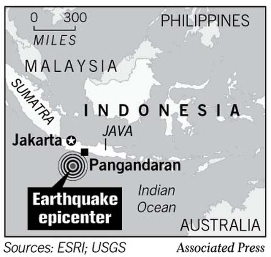 Earthquake Epicenter. Associated Press Graphic