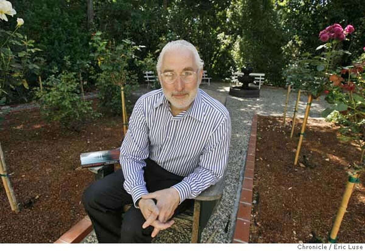 goldstein081_el.jpg In his wife's rose garden which is a bit of a retreat for him. The book next to him is not his. Stanford Law Professor Paul Goldstein, one of the most respected intellectual properties authorities in the country, has just released a legal thriller