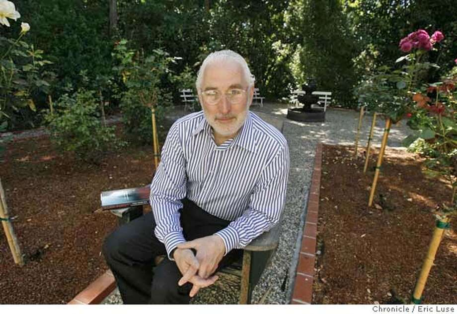 "goldstein081_el.jpg  In his wife's rose garden which is a bit of a retreat for him. The book next to him is not his. Stanford Law Professor Paul Goldstein, one of the most respected intellectual properties authorities in the country, has just released a legal thriller ""Errors and Omissions"".  Eric Luse/The Chronicle  names (cq) from source MANDATORY CREDIT FOR PHOTOG / Photo: Eric Luse"