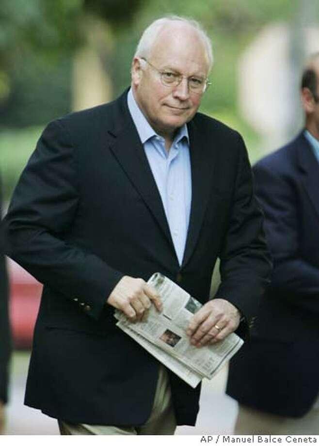 Dick Cheney Photo: MANUEL BALCE CENETA