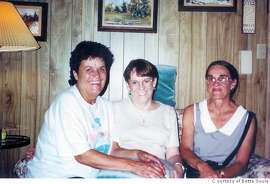 from l-r: Sylvia Bernard, Pam Parlette, Beverly Baker. (beverly and my mom are sisters; sylvia is their first cousin.) i'm not sure on the exact date of this photo, but if you need it i think it's 2000. photos courtesy Bette Soule.