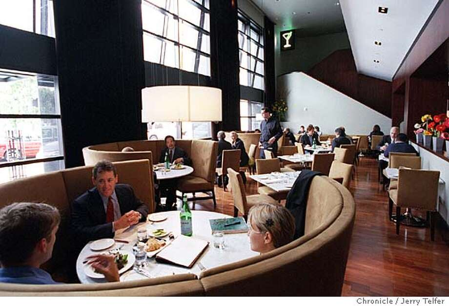 WHAT'S 5-26B/C/19MAY99/FD/JLT Luncheon diners in the principal dining area of XYZ restaurant in the W Hotel.  181 Third Street (at Howard St.)  BY JERRY TELFER/THE CHRONICLE  Ran on: 07-13-2006  Lunchtime in the principal dining area of XYZ, in the W Hotel on Third Street. Photo: JERRY TELFER