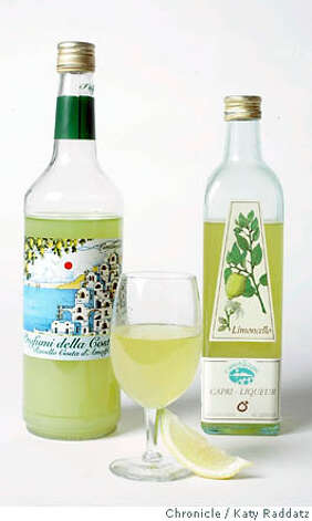 SPIRITS13a_005_RAD.jpg  For a story about Limoncello:  Profumi della Costiere Limoncello; Capri Limoncello  Photo taken on 7/6/06, in San Francisco, CA.  (Katy Raddatz/The S.F.Chronicle)  **Limoncello, Profumi della Costiere Mandatory credit for photographer and the San Francisco Chronicle/ -Mags out Photo: Katy Raddatz