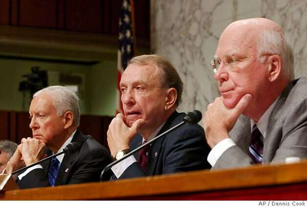 Orrin Hatch, Arlen Specter, Patrick Leahy Photo: DENNIS COOK