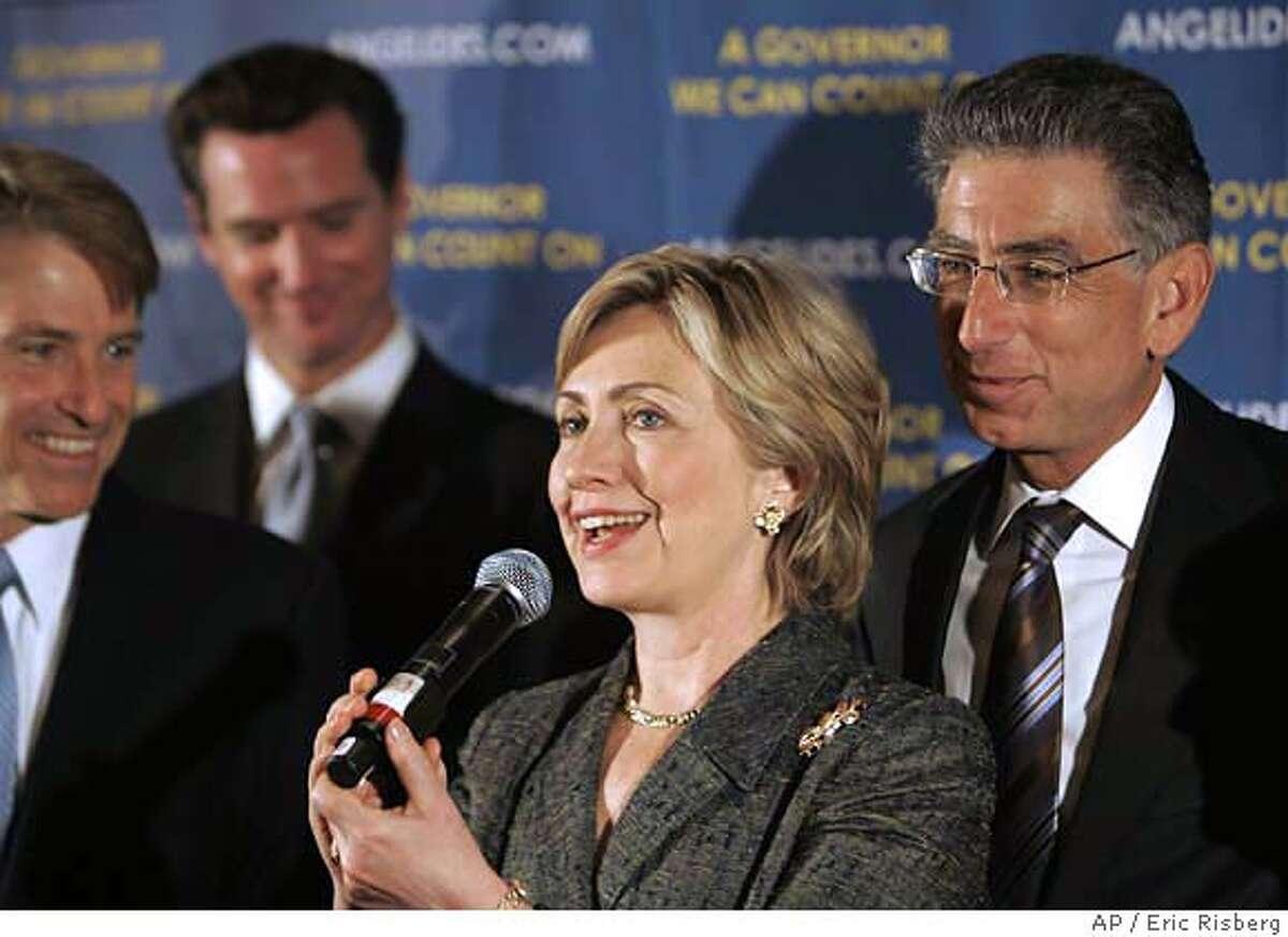 Hillary Rodham Clinton, Phil Angelides, Steve Westly, Gavin Newsom