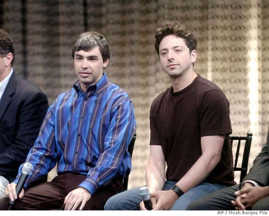 Sergey Brin, Larry Page Photo: NOAH BERGER