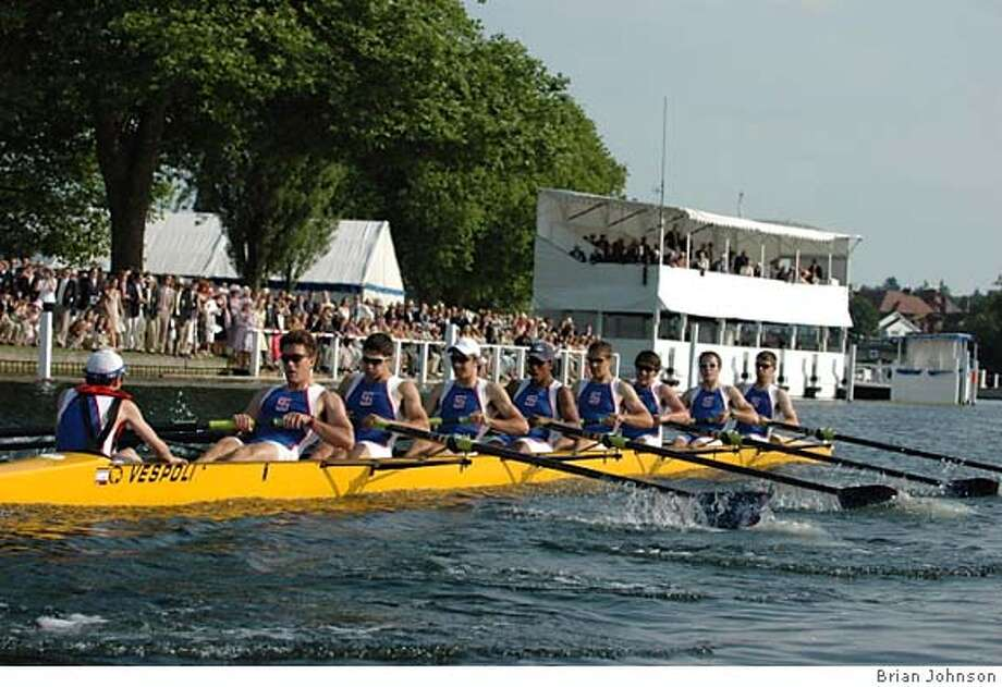 The St. Ignatius crew becomes part of a tradition that dates back to 1839, pulling to victory at the Henley Royal Regatta. Photo courtesy of Brian Johnson