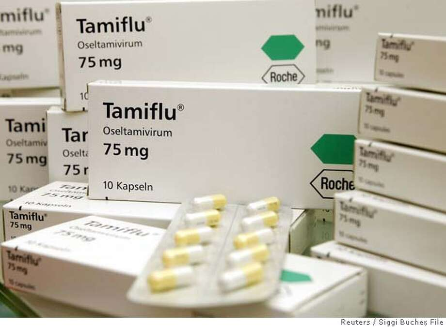 Flu drug Tamiflu is seen at a pharmacy in Zurich Photo: SIGGI BUCHER