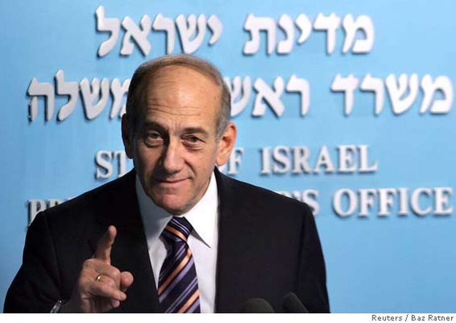 Israeli PM Olmert attends an award ceremony in Jerusalem Photo: POOL