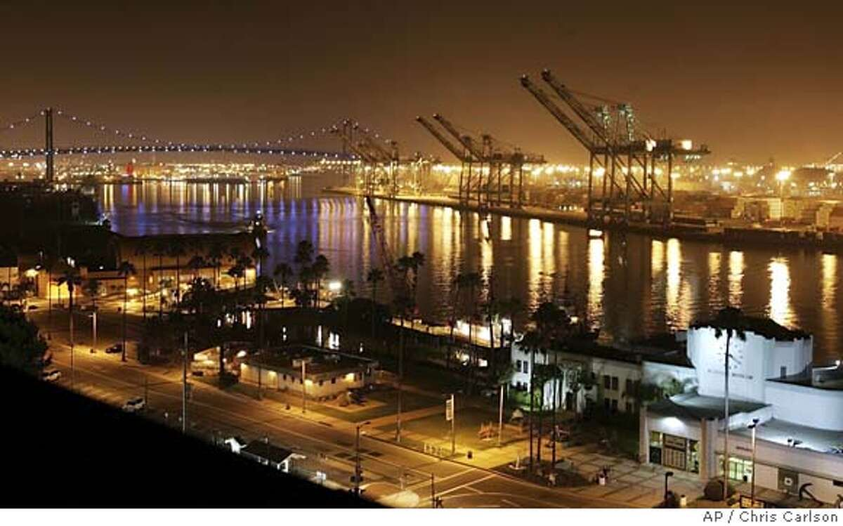 ** FILE **The Port of Los Angeles in Los Angeles., is seen in a file photo from July 6, 2005. The U.S. trade deficit unexpectedly rose to an all-time high in October as oil shipments soared and the United States set deficit records with China, Europe, Canada and Mexico. (AP Photo/Chris Carlson, File) Ran on: 12-15-2005 The Port of Los Angeles, left, is one of the chief ports of entry for imports from China. Below, Treasury Secretary John Snow says the key to improving the trade deficit is to get trading partners to boost their economic growth. Ran on: 06-28-2006 The Port of Los Angeles (above) and Port of Long Beach are heavy polluters. Their new policies will affect Oaklands port, too.